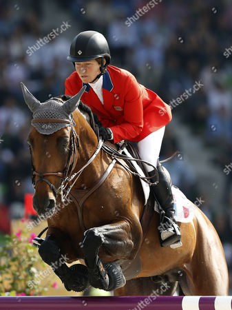 Us Rider Beezie Madden on Horse Orient Express Hdc Competes in the Jumping Final Four Event at the World Equestrian Games 2014 in Caen France 07 September 2014 Madden Took the Third Place France Caen
