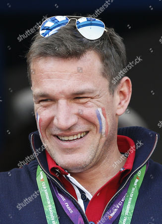 French Tv Personality Benjamin Castaldi Attends the Jumping Final Four Competition at the World Equestrian Games 2014 in Caen France 07 September 2014 France Caen