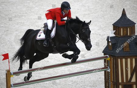 Us Rider Beezie Madden on Horse Cortes C Competes in the Jumping Event at the World Equestrian Games 2014 in Caen France 06 September 2014 France Caen
