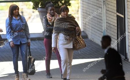 Nelson Mandela's Grandchildren Ndileka Mandela (l) and Daughter Makaziwe Mandela (r) Are Accompanied by an Unidentified Woman (c) Arrive at the Entrance of the Medi-clinic Heart Hospital in Pretoria Gauteng South Africa 28 June 2013 where Former President Mandela is Believed to Be Undergoing Treatment For a Recurring Lung Infection in a Media Statement Released by the Presidency on Thursday President Jacob Zuma Said Mandela's Condition Had Improved Overnight and He is Critical But Stable South Africa Pretoria
