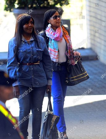 Nelson Mandela's Grandchildren Ndileka Mandela (l) and Tukwini Mandela (r)arrive at the Entrance of the Medi-clinic Heart Hospital in Pretoria Gauteng South Africa 28 June 2013 where Former President Mandela is Believed to Be Undergoing Treatment For a Recurring Lung Infection in a Media Statement Released by the Presidency on Thursday President Jacob Zuma Said Mandela's Condition Had Improved Overnight and He is Critical But Stable South Africa Pretoria