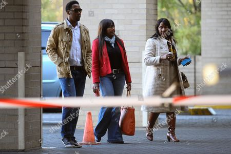 Nelson Mandela's Grandchildren Ndaba Mandela (l) Ndileka Mandela (c) and Daughter Makaziwe Mandela Arrive at the Medi-clinic Heart Hospital in Pretoria Gauteng South Africa 26 June 2013 where Former President Nelson Mandela is Believed to Be Undergoing Treatment For a Recurring Lung Infection According to the Presidency the Former Statesman's Condition Has Deteriorated to Critical Within the Last Four Days in a Statement Released by the Presidency on 23 June President Jacob Zuma Once More Appealed to the Nation to Keep Mnadela in Their Prayers South Africa Pretoria