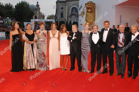 Stock Image of Serena Grandi, Morabito Orlando, Gisella Marengo, Valeria Bilello, Pupi Avati, Alba Rohrwacher, Silvio Orlando, Ezio Greggio, Eduardo Romano, Antonio Avati and the rest of the cast