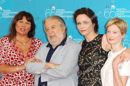 Serena Grandi, Pupi Avati, Francesca Neri and Alba Rohrwacher