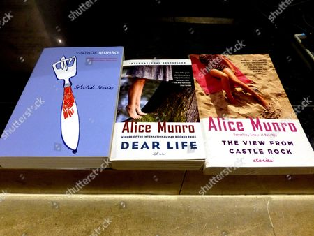 Books by Canadian Author Alice Munro Are on Display at a Bookstore in Taipei Taiwan 10 October 2013 82-year-old Canadian Author Alice Munro Has Been Awarded the 2013 Nobel Prize For Literature Taiwan Taipei