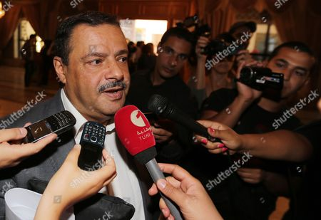 Tunisian Mp and Al-massar Party Member Samir Bettaieb Speaks to Reporters on the Sidelines of the National Dialogue Aimed at Ending the Ongoing Political Standoff in Tunis Tunisia 04 November 2013 Participants at the National Dialogue Are Continuing Their Discussions to Choose a New Premier to Replace Outgoing Ali Laarayedh the Ruling Ennahda Party Had Accepted a Plan Under Which Its Members Would Step Aside in Favor of a Transitional Government Composed of Politically Non-aligned Experts Tunisia Tunis