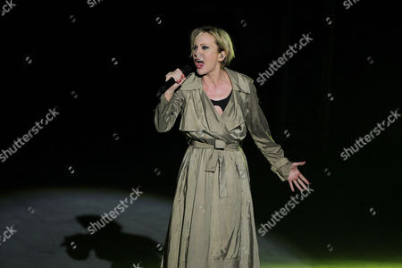 French Singer Patricia Kaas Performs During the 49th International Festival of Carthage at the Roman Theatre of Carthage in Tunis Tunisia Late 24 July 2013 Tunisia Tunis