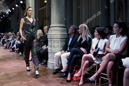 A Picture Made Avaliable on 10 May 2013 Shows a Model Wearing a Creation by Turkish Designer Atil Kutoglu During a Fashion Show at the Austrian Consulate in Istanbul Turkey 09 May 2013 the Event Presented Fall-winter 2013-14 Collections Turkey Istanbul