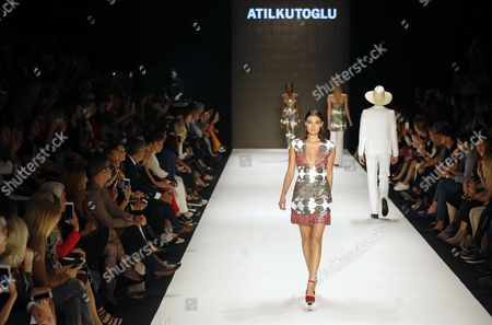 Models Present Creations by Turkish Designer Atil Kutoglu During the Mercedes Benz Fashion Week in Istanbul Turkey 13 October 2016 the Event Runs Until 15 October Turkey Istanbul