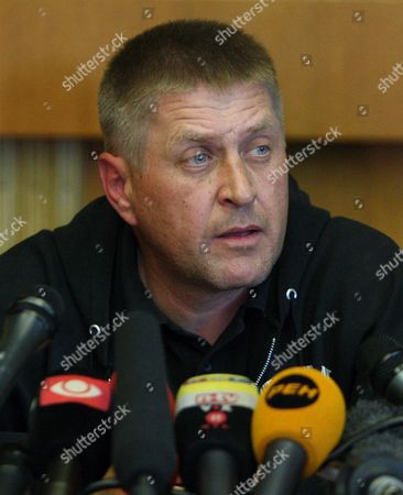 Rebel Leader Vyacheslav Ponomaryov Speaks During Press Conference in the Occupied Regional Administration Building in Slaviansk Ukraine 26 April 2014 the Group of European Military Observers Taken Captive on 25 April by Pro-russia Militants in Eastern Ukraine was Made Up of Spies the Separatists Said the Charges Were Laid After the Leaders of the Group of Seven (g7) Major World Economies Said They Would 'Move Swiftly' to Impose New Sanctions on Russia For what They Said was Its Role in Encouraging the Separatist Movements in Ukraine Ukraine Slaviansk