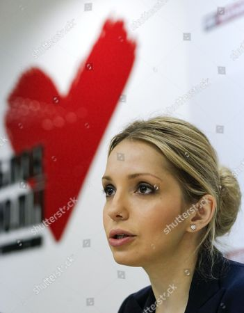 Eugenia Tymoshenko the Daughter of Jailed Ukrainian Opposition Leader and Former Prime Minister Yulia Tymoshenko Speaks During a Press Conference in Kiev Ukraine 30 April 2013 Media Reports State on 30 April 2013 That Former Ukrainian Prime Minister Yulia Tymoshenko Has Been 'Arbitrarily Detained' in Her Home Country with a Number of Her Rights Violated Argued the European Court of Human Rights As It Condemned Her Imprisonment Tymoshenko 52 an Arch-rival of President Viktor Yanukovych was Jailed in 2011 on Charges of Abuse of Power Related to a Gas Deal She Signed with Russia when She was Premier She Argued Her Detention was Politically Motivated and Unlawful and Complained She was Being Denied Access to Adequate Medical Care For a Back Complaint Ukraine Kiev