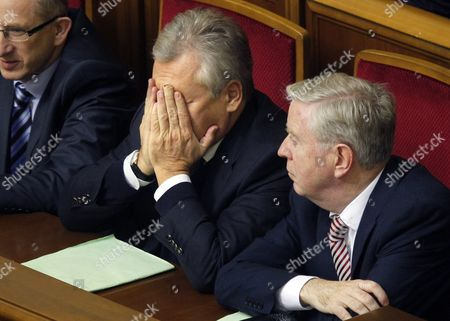Former Polish President Aleksander Kwasniewski (c) and Former President of the European Parliament Pat Cox (r) Attend Session of the Ukrainian Parliament in Kiev Ukraine 13 November 2013 the Ukrainian Parliament on 13 November Postponed a Hearing For a Bill That Would Allow Jailed Former Prime Minister Yulia Tymoshenko to Get Medical Treatment in Germany Opposition Deputies Shouted 'Shame' when Parliamentary Speaker Vladimir Rybak Declared the Hearing Closed After a Multi-party Commission Failed to Agree on a Draft Law Ukraine Kiev