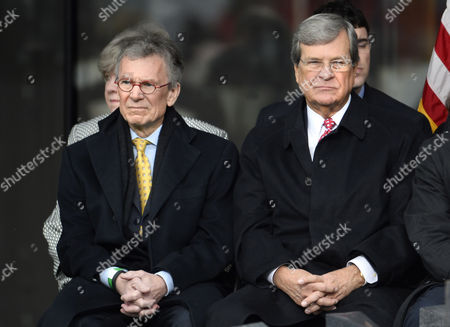 Tom Daschle (l) and Trent Lott (r) Emk Institute Board Members and Former United States Senate Majority Leaders Sit Together at the Start of the Dedication Ceremony of the Edward M Kennedy (emk) Institute For the United States Senate in Boston Massachusetts Usa 30 March 2015 the Institute Which is Envisioned As a Way to Inform the Public About the Role of the United States Senate Opens to the Public on 31 March 2015 United States Boston