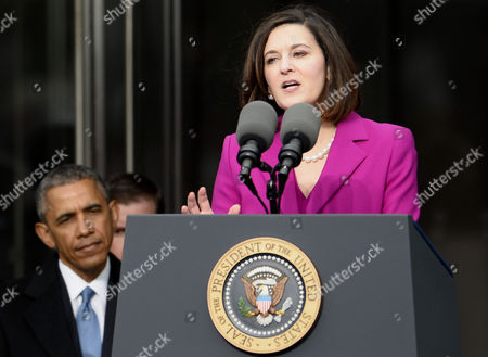 Victoria Reggie Kennedy (r) the Late Edward Kennedy's Widow Speaks As Us President Barack Obama (l) Listens During the Dedication Ceremony of the Edward M Kennedy Institute For the United States Senate in Boston Massachusetts Usa 30 March 2015 the Institute Which is Envisioned As a Way to Inform the Public About the Role of the United States Senate Opens to the Public on 31 March 2015 United States Boston
