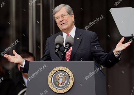 Trent Lott a Board Member of the Edward M Kennedy Institute and a Former United States Senate Majority Leader Speaks at the Start of the Dedication Ceremony of the Edward M Kennedy Institute For the United States Senate in Boston Massachusetts Usa 30 March 2015 the Institute Which is Envisioned As a Way to Inform the Public About the Role of the United States Senate Opens to the Public on 31 March 2015 United States Boston