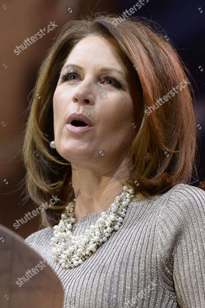 Republican Representative From Minnesota Michele Bachmann Speaks at the 41st Annual Conservative Political Action Conference (cpac) at the Gaylord National Resort and Convention Center in National Harbor Maryland Usa 08 March 2014 United States National Harbor