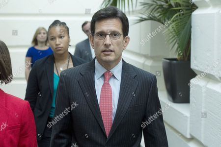 Republican Representative From Virginia Eric Cantor the Outgoing House Majority Leader Walks to a Republican Conference Meeting on Capitol Hill in Washington Dc Usa 23 July 2014 United States Washington