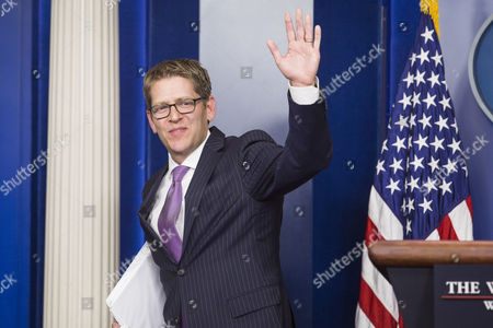 White House Press Secretary Jay Carney Waves Goodbye After His Last Press Briefing at the White House in Washington Dc Usa 18 June 2014 Deputy Press Secretary Josh Earnest Will Take Over Carney's Position United States Washington