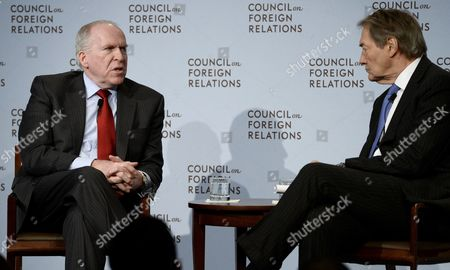 Central Intelligence Agency Director John O Brennan (l) is Interviewed by Television Personality Charlie Rose (r) During an Appearance at the Council of Foreign Relations (cfr) in New York New York Usa 13 March 2015 Brennan Spoke About the Security Threats Facing the United States and How the Cia is Responding Epa/justin Lane United States New York