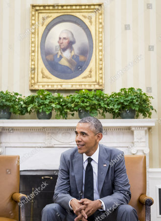 Us President Barack Obama Listens During a Meeting with Congressional Leadership in the Oval Office of the White House in Washington Dc Usa 18 June 2014 According to Press Secretary Jay Carney the President and Congressional Leadership Were Meeting to Discuss Options For the Conflict in Iraq United States Washington
