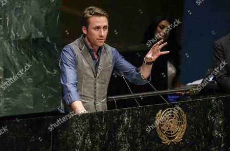 Conservationist Philippe Cousteau Jr Speaks As Part of an Event Marking International Day of Happiness at United Nations Headquarters in New York New York Usa 20 March 2015 United States New York