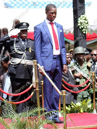 Zambian President Elect Edgar C Lungu at His Presidential Inauguration in the Capital Lusaka Zambia 25 January 2015 the Countries Recent Elections Are Following the Death of Late President Michael Sata in Office Last Year Zambia Lusaka