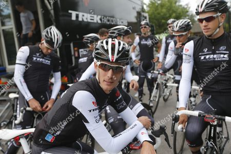 Trek Factory Racing Procycling Team Rider Andy Schleck of Luxembourg Before a Training Session Prior the Start of the 101st Edition of the Tour De France 2014 Cycling Race in Leeds France 04 July 2014 the 190km-long First Stage of the Tour De France 2014 Starts 05 July From Leeds to Harrogate United Kingdom Leeds