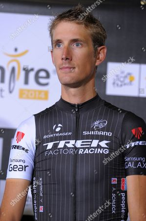 Trek Factory Racing Procycling Team Rider Andy Schleck of Luxembourg Poses During the Opening Ceremony of the 101st Edition of the Tour De France 2014 Cycling Race in Leeds Great Britain 03 July 2014 the 101st Edition of the Tour De France 2014 Cycling Race Will Start in Leeds on 05 July 2014 United Kingdom Leeds
