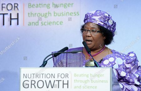 President of the Republic of Malawi Joyce Banda Delivers a Speech at the Nutrition For Growth Global Hunger Summit in London Britain 08 June 2013 Politicians and Leaders From the World of Science and Big Business Gathered to Tackle the Issue of Global Hunger Ahead of the G8 in Northern Ireland on 17 June United Kingdom London