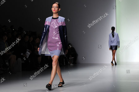 A Model Presents a Creation by South Korean Fashion Designer Jackie Js Lee at the London Fashion Week in London Britain 13 September 2013 the Spring/summer 2014 Collections Are Presented From 13 to 17 September United Kingdom London