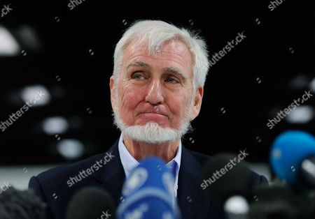Us Professor John O' Keefe Speaks to Reporters After Winning the Nobel Prize For Physiology Or Medicine During a Press Conference in London Britain 06 October 2014 Us Citizen John O'keefe and Norwegians May-britt Moser and Edvard Moser Won the 2014 Nobel Prize in Medicine For the Discovery of Nerve Cells That Constitute a Positioning System in the Brain United Kingdom London