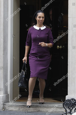 Helen Grant Formerly Justice Minister Leaves After Her Meeting with British Prime Minister David Cameron at Number 10 Downing Street Central London England 07 October 2013 Following Her Meeting with David Cameron Helen Grant Has Been Appointed As Helen Grant Has Been Appointed As Parliamentary Under Secretary of State (sport and Equalities) in the Conservative Cabinet Reshuffle United Kingdom London