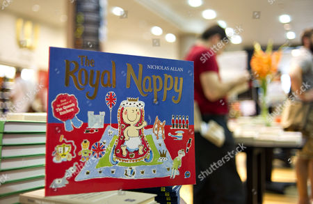 A Children Book Entitled 'The Royal Baby' by Nicholas Allan is Displayed on Sale at a Waterstones Bookshop in London Britain 19 July 2013 the Nation Awaits News of a New Royal Baby Thirty-one Year Old Catherine Duchess of Cambridge Will Give Birth to Her and Prince William's First Child at the Lindo Wing of St Mary's Hospital Meanwhile Hundreds of Royal Baby-watchers Journalists Photographers Have Already Set Up Shop on the Street Opposite in Anticipation of the Royal Birth United Kingdom London
