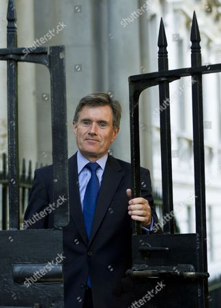 Sir Robert John Sawers Chief of Britain's Secret Intelligence Service (mi6) Arrives For a National Security Council (nsc ) Meeting at 10 Downing Street in Central London 28 August 2013 British Pm David Cameron is Chairing a Meeting of the National Security Council (nsc) to Discuss the Ongoing Syrian Crisis United Kingdom London
