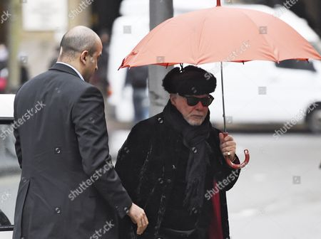 Stock Photo of British Former Glam Rock Star Gary Glitter (r) Arrives to Southwark Crown Court in Central London Britain 05 February 2015 the Former Singer Whose Real Name is Paul Gadd is Appearing on Charges Relating to Historic Sex Offenses Against Two Young Girls the Jury Has Retired to Consider Its Verdict United Kingdom London