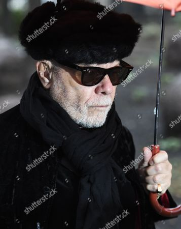 Stock Picture of British Former Glam Rock Star Gary Glitter Arrives to Southwark Crown Court in Central London Britain 05 February 2015 the Former Singer Whose Real Name is Paul Gadd is Appearing on Charges Relating to Historic Sex Offenses Against Two Young Girls the Jury Has Retired to Consider Its Verdict United Kingdom London