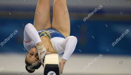 Hannah Whelan of Britain in Action During the Team Qualification For the Balance Beam Event at the Women Artistic Gymnastics European Championships in Sofia Bulgaria 15 May 2014 Bulgaria Sofia