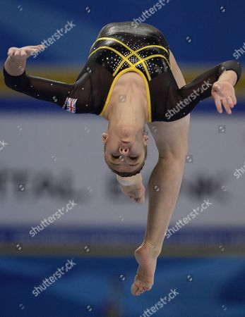 Hannah Whelan of Britain Performs on the Balance Beam During the Team Competition at the Women's Artistic Gymnastics European Championships in Sofia Bulgaria 17 May 2014 Team Britain Won the Silver Medal Bulgaria Sofia
