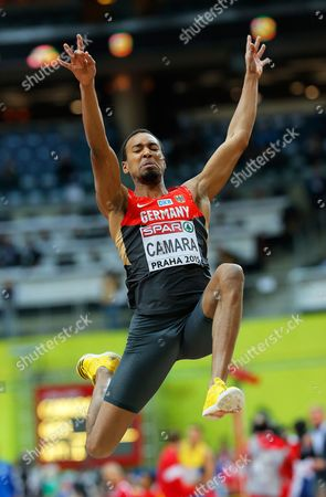 Stock Picture of Alyn Camara of Germany Competes in the Men's Long Jump Final During the European Athletics Indoor Championships 2015 at the O2 Arena in Prague Czech Republic 06 March 2015 Czech Republic Prague