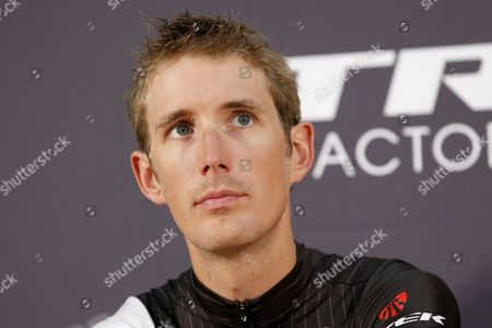Trek Factory Racing Team Rider Andy Schleck of Luxembourg Attends a Press Conference Prior the Start of the 101st Edition of the Tour De France 2014 Cycling Race in Leeds France 03 July 2014 United Kingdom Leeds