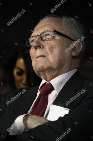 Former French Minister in Charge of the Economy and Finances Jacques Delors Attends to the European Progressivist Forum at the Mutualite Palace in Paris France 15 June 2013 France Paris
