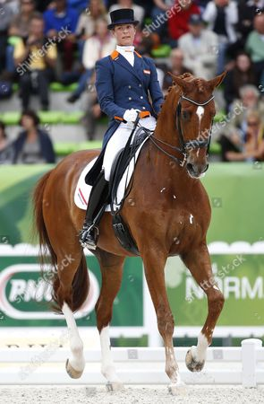 Dutch Rider Adelinde Cornelissen on Horse Jerich Parzival N O P Competes in the Grand Prix Special Dressage Competition During the World Equestrian Games 2014 in Caen France 27 August 2014 France Caen