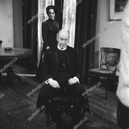 'The Stories of D H Lawrence: Daughters of the Vicar'   TV Picture shows - Petra Davies as Mary Lindley and John Welsh as Rev. Ernest Lindley