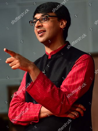 Stock Picture of Professor of Mathematics and Fields Medal Winner Manjul Bhargava Gives a Lecture During a Interaction with Students at Bishop Cotton Boys School in Bangalore India 21 January 2015 Bhargava a Canadian-american with Indian Descent Won the Fields Medal the Highest Honor in the Field of Mathematics) in 2014 India Bangalore