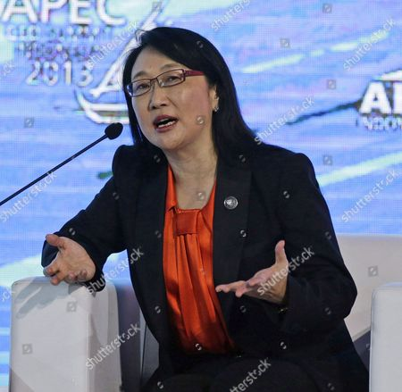 Cher Wang Chairperson of Htc Corporation Speaks During a Discussion on 'Business of Innovation' at the Asia-pacific Economic Cooperation (apec) Ceo Summit in Nusa Dua Bali Indonesia 06 October 2013 Indonesia's Resort Island of Bali is Hosting the Apec Summit From 01 to 08 October 2013 Indonesia Nusa Dua