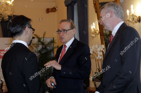 Indonesian Foreign Affairs Minister Marty Natalegawa Chats to Australian Foreign Affairs Minister Bob Carr (c) and Immigration Minister Tony Burke (r) During Their Meet in the Special Conference on Irregular Movement of Persons in Jakarta Indonesia 20 August 2013 Indonesia Jakarta