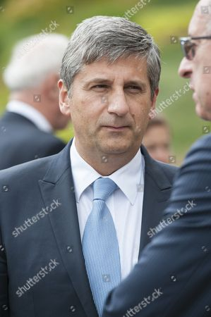 Austrian Finance Minister Michael Spindelegger Awaits Prior to the German Speaking Countries's Finance Ministers Meeting in Senningen Castel Luxembourg 20 June 2014 the Ministers Will Discuss on the Finance Situation Between Austria Lichtenstein Luxembourg Germany and Swizterland in Particular the Taxes Data Exchange Luxembourg Luxembourg