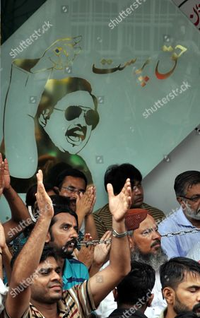 Supporters of Pakistani Opposition Party Mutahida Qaumi Movement (mqm) Listen to a Speech by Party Leader Altaf Hussain in Karachi Pakistan 30 June 2013 Altaf Hussain who Runs the Party From London where He Lived in Self-exile For Decades Had Resigned Voluantarily From the Party After British Security Officials Raided One of His House in Connection with the Murder of One Imran Farooq the Mqm was Formed by Current Leader Altaf Hussain to Fight For the Rights of Urdu Speakers in Karachi the Country's Most-populous City Pakistan Karachi