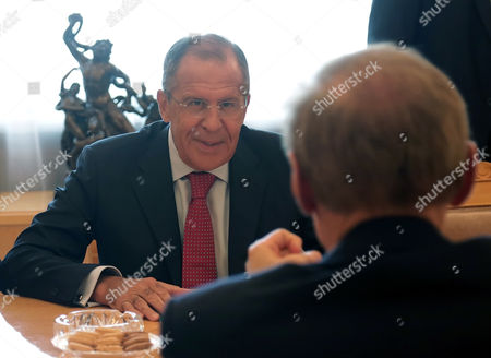 Russian Foreign Minister Sergei Lavrov (l) Speaks with Australian Foreign Minister Bob Carr (r) During Their Meeting in Moscow Russia 03 September 2013 Russian Federation Moscow
