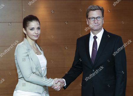 German Foreign Minister Guido Westerwelle (r) Meets with Eugenia Tymoshenko Daughter of Jailed Ukrainian Opposition Leader Yulia Tymoshenko During Their Meeting in Kiev Ukraine 21 June 2013 Guido Westerwelle Arrived in Ukraine For One-day Working Visit Ukraine Kiev